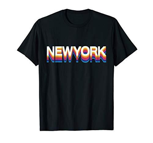 Retro Chicago Shirt | Vintage 1980s Style Chicago New York T-Shirt -