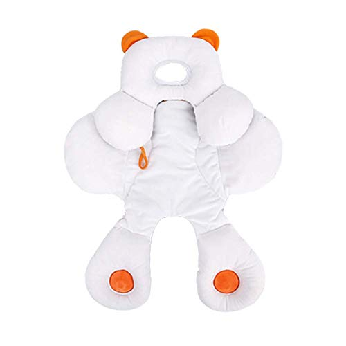 Baby-Kopf und Körper-Stützkissen - Organic Cotton 2-in-1-Wendekissen, Autositz-Einsatz, verwendet in Kinderwagen Pram Wippen Kinderwagen Schaukel