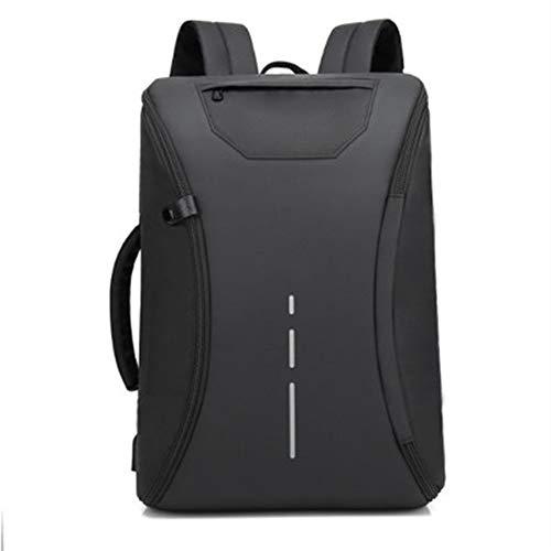 BCXS 2019 neue Multifunktions-Kreativrucksack Herren-Multifunktions-Casual Outdoor-Rucksack USB-Ladecomputertasche-black -
