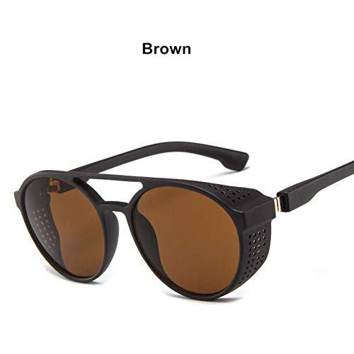 YHEGV Hot Steampunk Sonnenbrille Frauen Männer Retro Brille Runde Flip Up Brille Vintage Mode Brillen Oculos De Sol Uv400