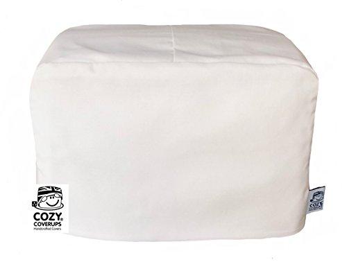 Cozycoverup® Staubschutz für Toaster, Weiß (Dualit New Gen Classic, 4 Scheiben) (Dualit Toaster Slice 4)