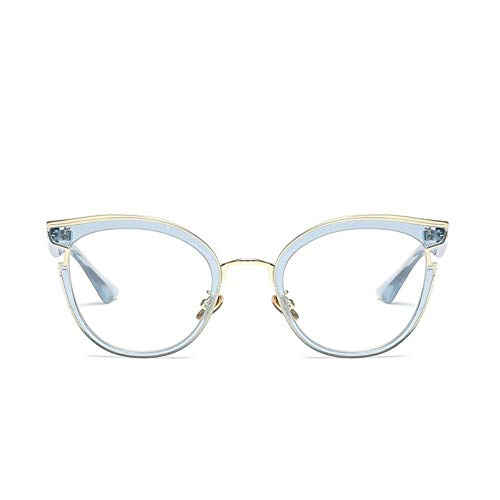 MoHHoM Sonnenbrille Fashion Cat Eye Lesen Brillen Optische Gläser Frames Neue Vintage Brille Frauen Brand Design, Klare Gläser Gläser Uv 400 Blau Klar