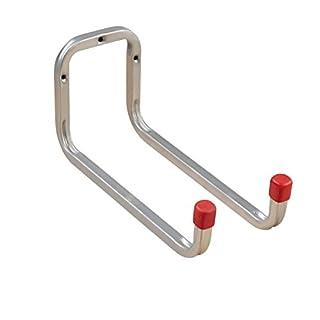 Gerätehalter Wand-Halterung Geräte-Haken Metall - Doppel-Wandhaken 250 mm - DUO | Stahl verzinkt | Allzweckhaken für Keller - Ordnung | Werkstatt-Haken zum Schrauben | 1 Stück - Schraubhaken Garage