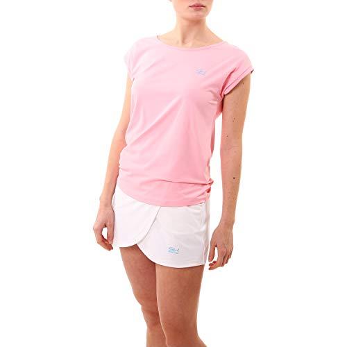 Sportkind Mädchen & Damen Tennis, Fitness, Sport Loose Fit T-Shirt, Hellrosa, Gr. M