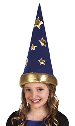 Boland 04228 Spitz Hut Wizard, blau/Gold