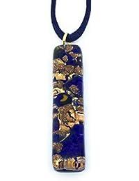 Murano - Colgante de Cristal de Murano con Purpurina sobre una Base de Hoja de  Oro ee40392721f