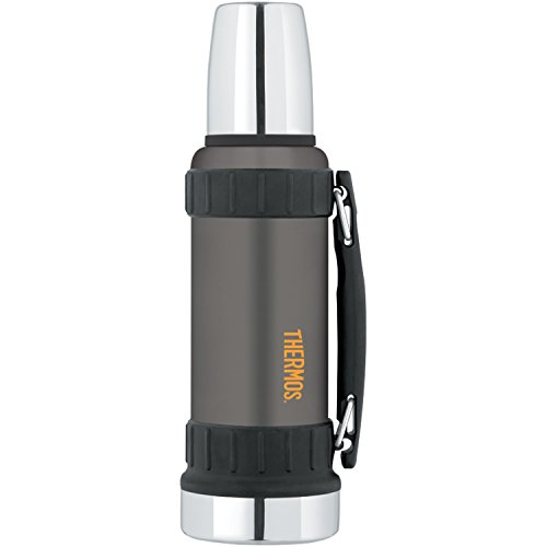 THERMOS WORK SERIES BEVERAGE BOTTLE 40 OZ GUNMETAL GRAY -