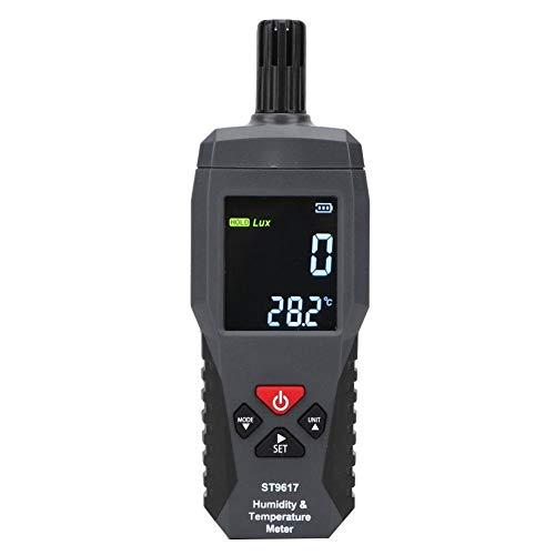 Hygrometer-Thermometer, digitales Thermometer, LCD-Display, tragbares Handgerät, Temperatur-Feuchtigkeitsmessgerät, automatische oder manuelle Abschaltfunktion, SMART SENSOR -