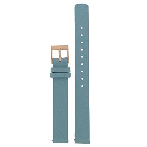 Skagen Uhrband Wechselarmband LB-SKW2621 Ersatzband SKW2621 Uhrenarmband Leder 12 mm Blau
