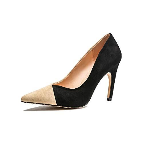 FLYSXP Schuhe mit hohen absätzen Frauen hochwertige Materialien Mode lässig Komfort einfach licht einzelne Schuhe high Heels frühling und Sommer 9cm Damenschuhe (Frauen-schuhe-komfort-heels)