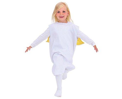 Unbekannt Engel Kostüm – Kinder-Kostüm für Theater, Fasching und Krippenspiel, Größe 104 – ()
