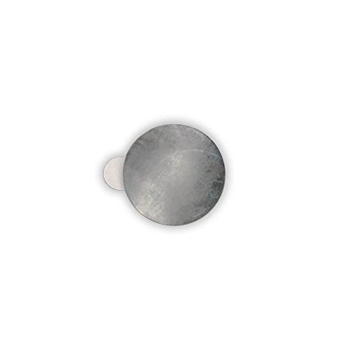 HouseholdBasics 10 x Selbstklebende Metallplättchen (verzinkter Stahl, Ø 21 mm, Höhe 0,3 mm) (Chip-magnete)