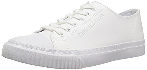 Calvin Klein Jeans Iaco Nappa Smooth, Scarpe da Ginnastica Basse Uomo, Bianco (White 000), 42 EU