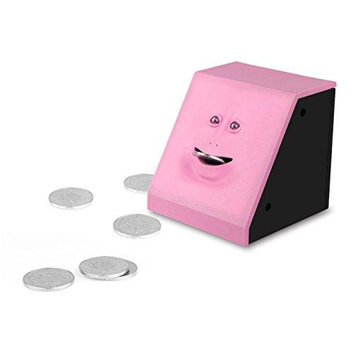 Onerbuy Neuheit Gesicht Bank Münze Lebensmittel Spar Bank Kinder sparen Geld Sammlung Piggy Bank (Pink)