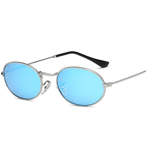 LAMAMAG Sonnenbrille Kleine Ovale Sonnenbrille Frauen Vintage Schwarz Rot Günstige Sonnenbrille Runde Metallrahmen Männer Uv Gafas De Sol, 5
