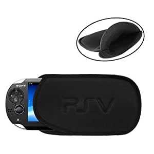 SONY PS VITA BLACK SOFT SLEEVE BAG CASE POUCH COVER FOR PSV