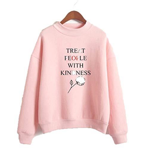 U CAN Harry Styles T-Shirt Unisex Langarm-Sweatshirt Mit Hohem Kragen Schwarz