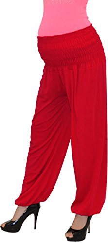 Pantalon pour femme enceinte schwangerschaftshose umstandshose pantalon de grossesse en 25 couleurs Rouge - Rubinrot