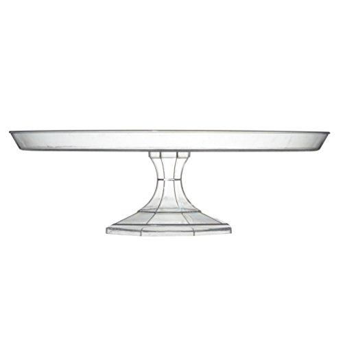 Fineline–Plástico Sólido soporte para tartas plato, plástico, transparente, 25 cm