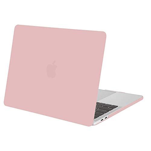 MOSISO Custodia Rigida Compatibile con MacBook PRO 13 Pollici con/Senza Touch Bar 2018/2017/2016(A1989/A1706/A1708),Plastic Case Cover Rigida Copertina,Quarzo Rosa