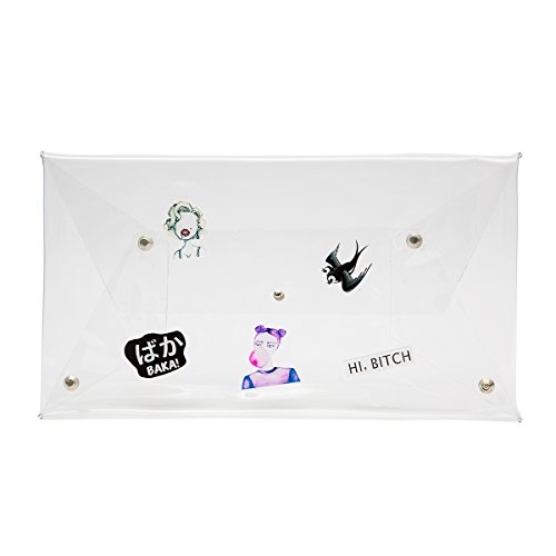 zarapack Frauen 'S CLEAR TRANSPARENT Handtasche Clutch Hologramm IT-Bag, Style 1 (Transparent) - BA928 Style 1