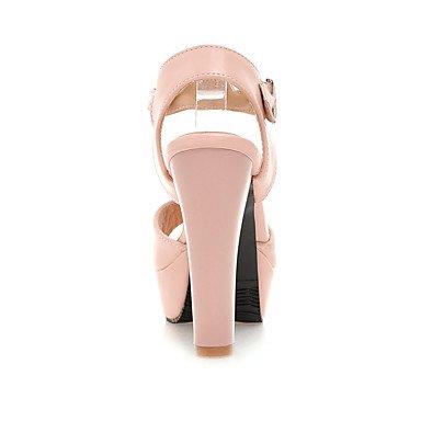 LvYuan Da donna Sandali Scarpe formali Finta pelle Primavera Estate Formale Serata e festa Scarpe formali Quadrato Bianco Blu Rosa 12 cm e oltre blushing pink