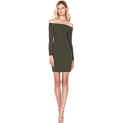 Alaix de manera de las mujeres del hombro elástico delgado a medida Vestido de noche atractivo