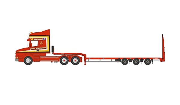 Oxford 1//76 Scale 76TCAB008 Scania T Cb 3 Axle Nooteboom Low Loader Sandy Kydd
