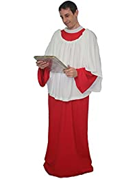 The Dragons Den Adults Red Religious Choir or Alter Boy Church Singer Fancy Dress Costume