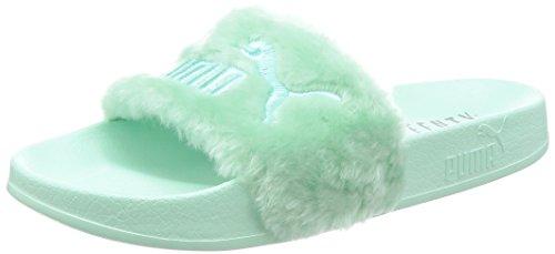 Puma Damen Badeschuhe Fur Slide Silber (12) 39