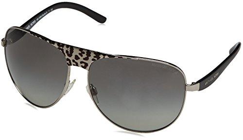 Michael Kors Unisex MK1006 Sadie II Sonnenbrille, Silber (Silver/Black 105911), One Size (Herstellergröße: 62)