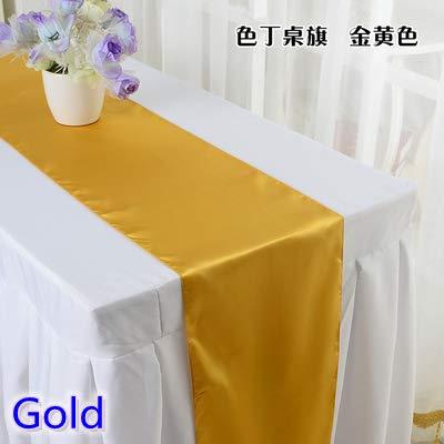 Weanorey Gold Farbe Satin tischläufer hochzeitsdekoration für Moderne Hochzeit Hotel bankett Dekoration tischläufer30 * 275 cm 5 stücke