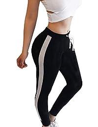 5594048a2d3dc Pantalon Patchwork pour Dames avec Bandages Fashion Élastique Skinny  Pantalon Long Stretch Pantalon De Jogging Yoga