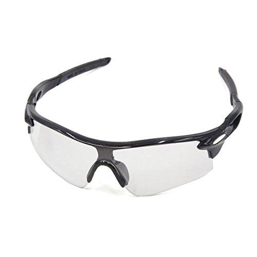 sourcingmap Schwarz Halbrahmen Klar Linse Sport Rad Fahrrad Reitschuh Sonnenbrille