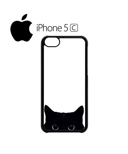 Black Cat Hide Hiding Cute Funny Cats Animal Animals Mobile Phone Case Cover iPhone 5c Black Noir