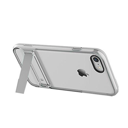 YAN Für iPhone 7 Plus Business Style TPU + PC Schutzhülle mit Halter Kickstand ( Color : Red ) Transparent