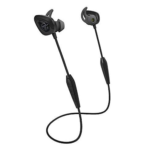 AY Bluetooth Kopfhörer Sport Ohrhörer Rauschunterdrückung V4.2 Wireless Starker Bass Sweatproof Headset Mit Mikrofon für Smartphones (Schwarz)