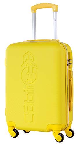 CABIN GO MAX 5585 - Trolley rigido in ABS grande valigia con ruote, 55x40x20 cm utilizzabile come bagaglio a mano di dimensioni standard