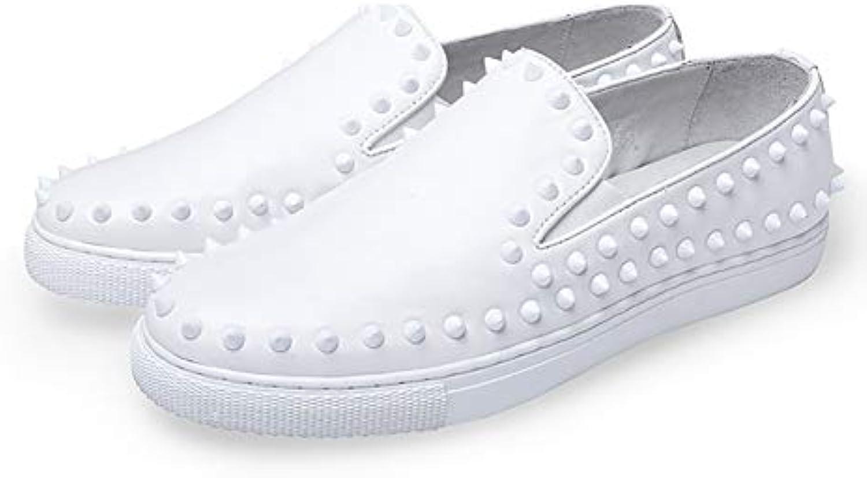 Zapatos de Hombre Mocasines y Slip-Ons de Cuero Zapatos de otoño/conducción Zapatos Formales/Comfort Rivet Flower...
