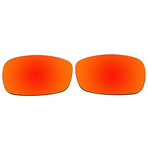 ACOMPATIBLE Ersatz-Objektive für Oakley Crosshair 2.0Sonnenbrille OO4044, Fire Red Mirror - Polarized