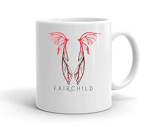IDcommerce Fairchild Symbol Weißer Keramik-Becher für Tee und Kaffee (Shadow Hunters Mortal Instruments)