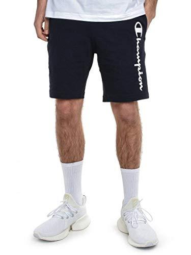 Champion Bermuda Mann mit schriftlicher Col. Blau XL (Trainer Shorts Männer)