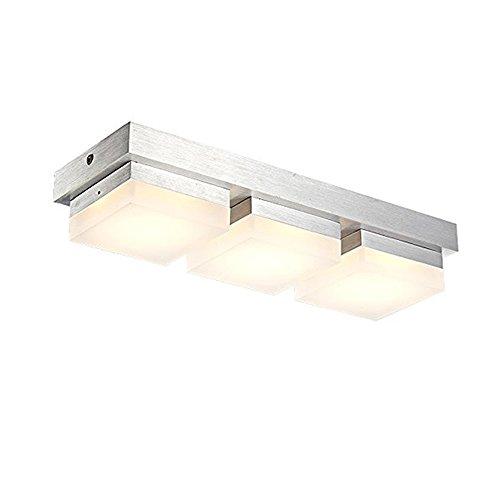 SAILUN® 36W LED Warmweiß Deckenleuchte 3-flammig Acryl Deckenlampe Flur Wohnzimmer Lampe Schlafzimmer Küche Energie Sparen Licht Wandleuchte Silber Aluminium