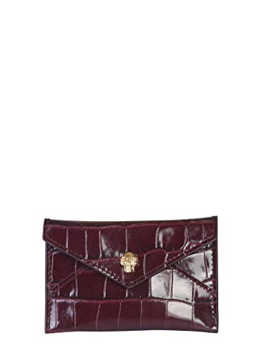 Alexander McQueen Luxury Fashion Donna 5541941JM0G6230 Bordeaux Portacarte | Autunno Inverno 19