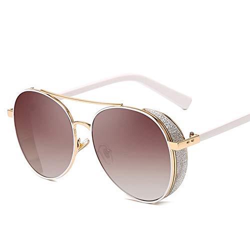 TJTYJ Mode Retro Flash Persönlichkeit Windschutzscheibe Rahmen Runde Uv400 Film Reflektierende Kühle Linse SonnenbrilleS204