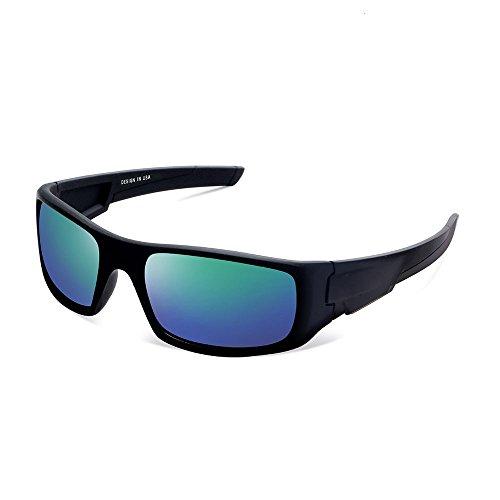 Herren und Damen Sonnenbrillen Polarisiert Unisex Brille Überbrille für Brillenträger Fit-over (D)