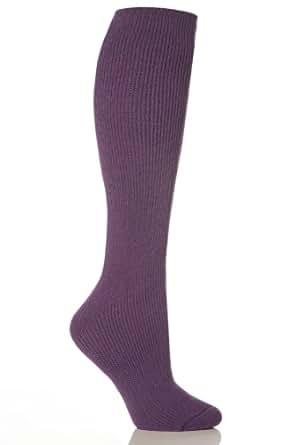 1 Paar Damen / Herren / Unisex lange echte Original-Thermal-Winter-warme Hitze Inhaber Socken Größe 4-8 uk, 37-42 Eur lila