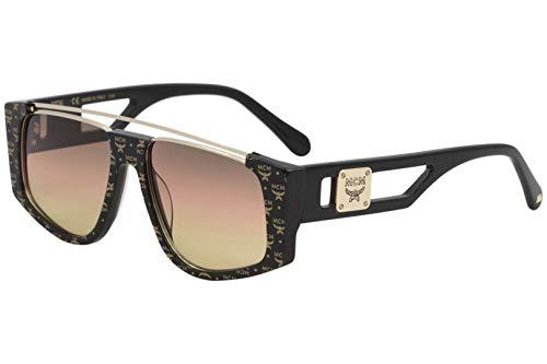 MCM MCM670S MCM/670/S 006 Visetos Fashion Square Sonnenbrille, 55 mm, Schwarz