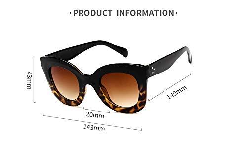 Aprigy - Frauen Katzenaugen-Sonnenbrille Retro Aufmaß Sonnenbrillen Weibliche Full Frame Brillen für Damen [EIN]