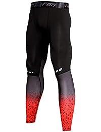 Musclealive Uomo Palestra Bodybuilding Compressione Gambale Collant  Allenarsi Fitness Pantaloni Livello Base Freddo Secco df51a330587